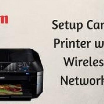 How to setup wireless connection in canon printer?